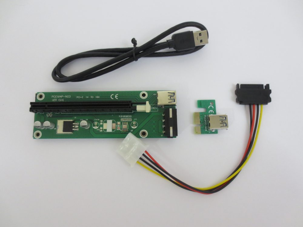 Green PCIe Powered Riser