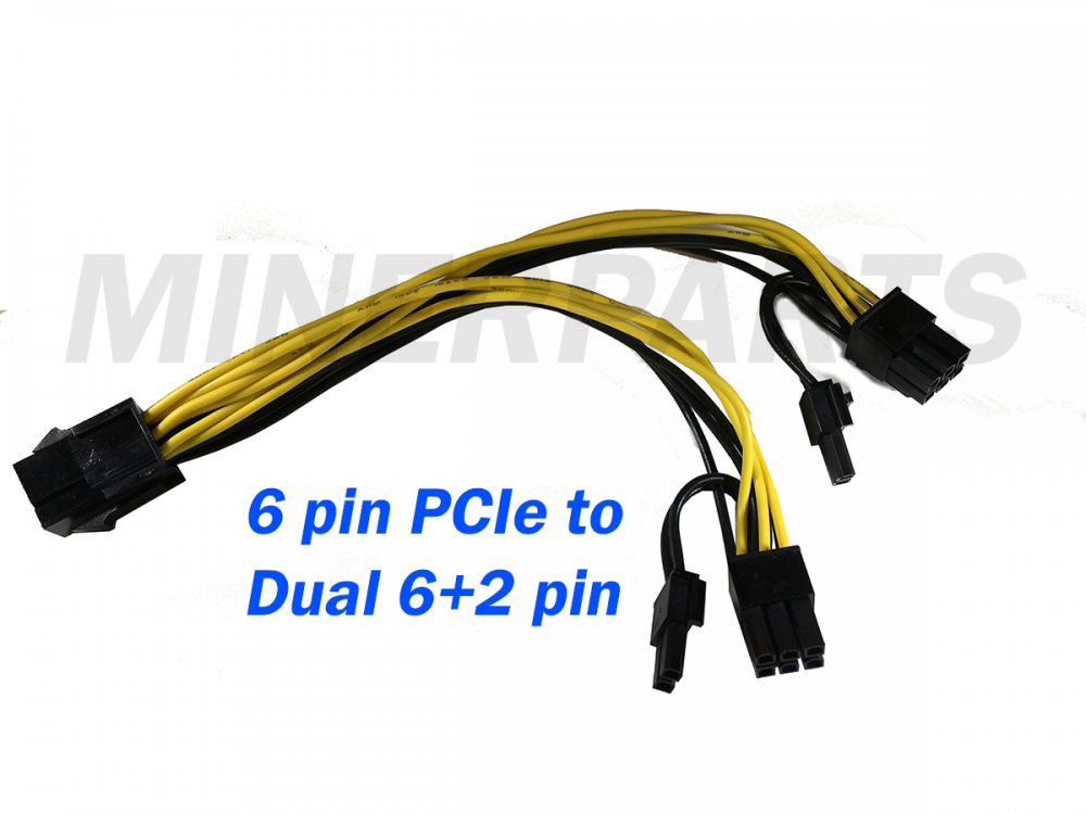 6 pin pcie to dual 8 pin