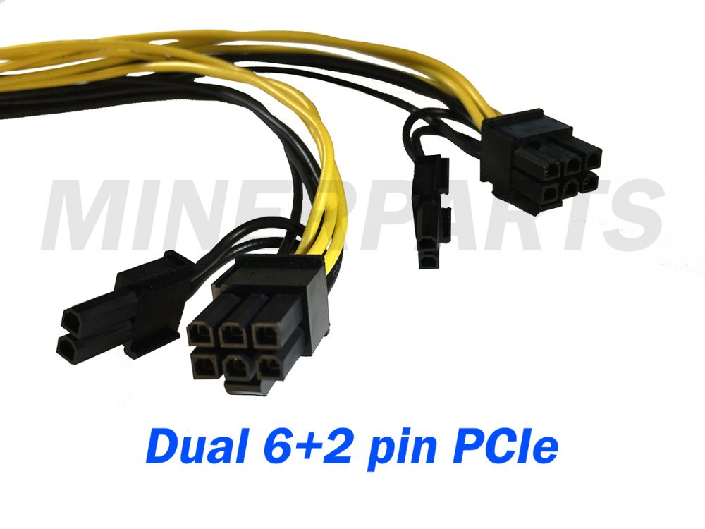 dual 6+2 pin pcie adapter