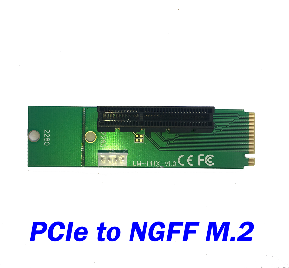 M 2 Pcie Adapter Pakistan Adapter Nikon To Sony E Mount Wifi Adapter Gone From Laptop Adapter Adapter Meaning: PCIe 4x To NGFF M.2 Adapter With 4 Pin Power Cable