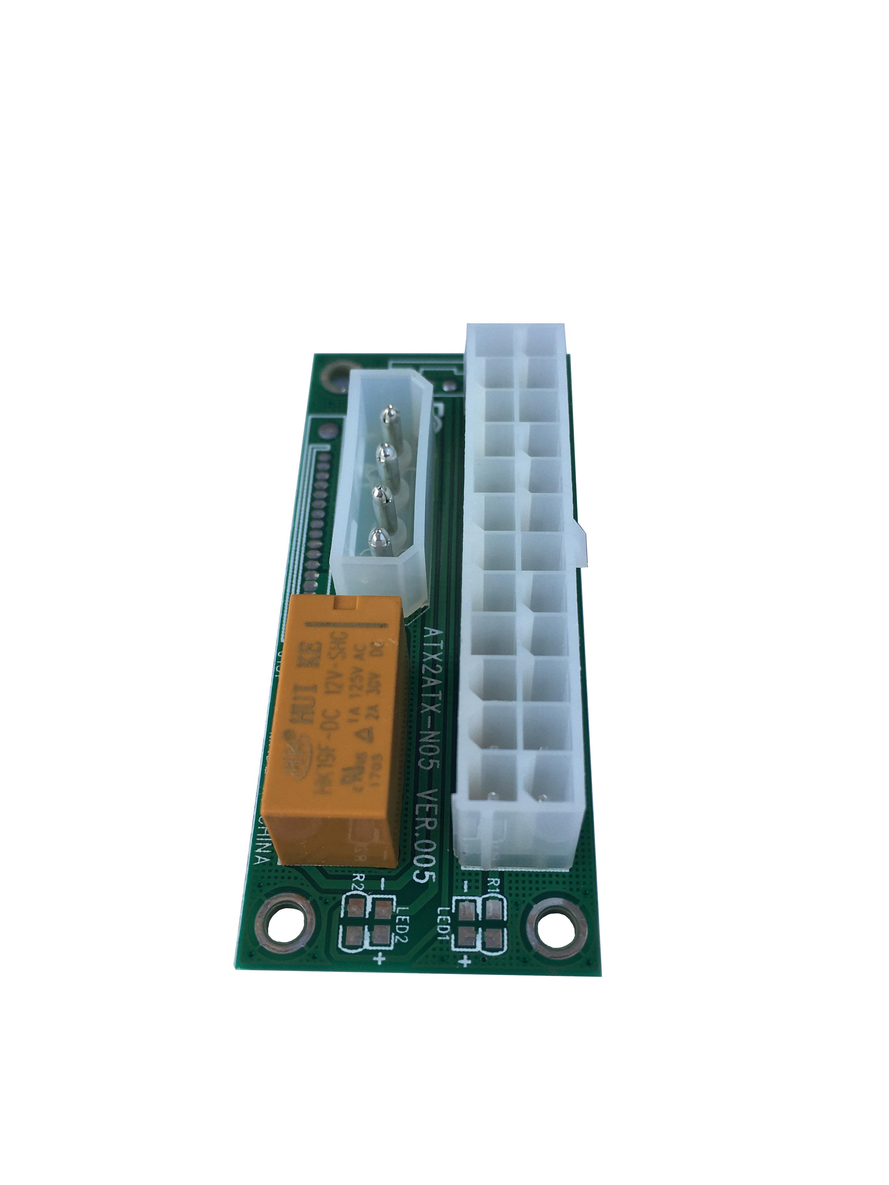 Add2psu Dual Psu Adapter Card 24 Pin Power Supply For 2 12v