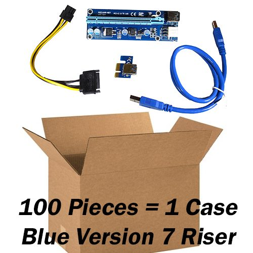 one case blue 7 pcie risers - 100 pieces